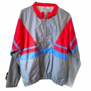WILSON Half Zip Colorblock Windbreaker Jacket